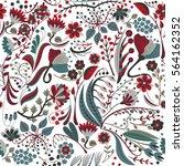 floral seamless pattern. hand... | Shutterstock .eps vector #564162352