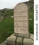 Small photo of marker on top of Col de la Cayolle in the French Alps