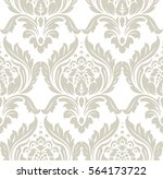 vector damask seamless pattern... | Shutterstock .eps vector #564173722