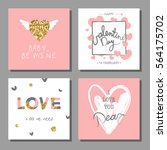 valentine s day creative... | Shutterstock .eps vector #564175702