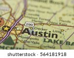 closeup of austin  texas on a... | Shutterstock . vector #564181918
