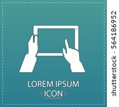 touch screen icon vector. flat...