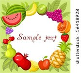 fruit card | Shutterstock .eps vector #56418928
