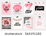 collection of pink  black ... | Shutterstock .eps vector #564191182
