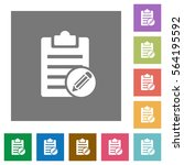 edit note flat icons on simple... | Shutterstock .eps vector #564195592