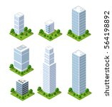 isometric city icons | Shutterstock . vector #564198892