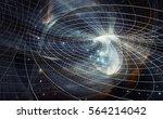 across the universe. traveling... | Shutterstock . vector #564214042