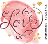 postcard to the day of lovers... | Shutterstock .eps vector #564215716