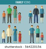 family icons set. traditional... | Shutterstock .eps vector #564220156