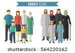 family icons set. traditional... | Shutterstock .eps vector #564220162
