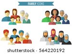 family icons set. traditional... | Shutterstock .eps vector #564220192