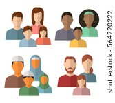 family icons set. traditional...   Shutterstock .eps vector #564220222