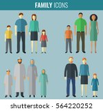family icons set. traditional... | Shutterstock .eps vector #564220252