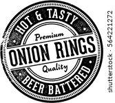 onion rings vintage menu design ... | Shutterstock .eps vector #564221272