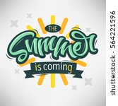 the summer is coming label... | Shutterstock .eps vector #564221596