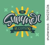 the summer is coming label... | Shutterstock .eps vector #564225136
