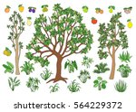set elements for your landscape ... | Shutterstock .eps vector #564229372