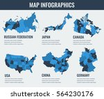 country maps infographic... | Shutterstock .eps vector #564230176