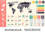 infographic elements set. world ... | Shutterstock .eps vector #564230242