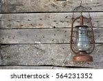 Old Kerosene Lamp Hanging On A...