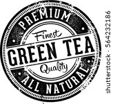 premium green tea vintage label | Shutterstock .eps vector #564232186
