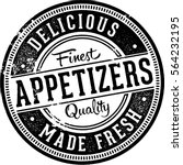 delicious appetizers menu... | Shutterstock .eps vector #564232195