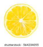 juicy yellow slice of lemon... | Shutterstock . vector #564234055