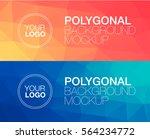 horisontal polygonal banners | Shutterstock .eps vector #564234772