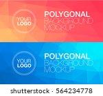 horisontal polygonal banners | Shutterstock .eps vector #564234778