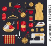 collection of elements for... | Shutterstock .eps vector #564245878