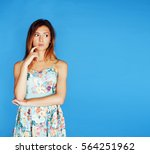 young pretty adorable woman... | Shutterstock . vector #564251962