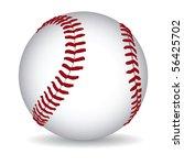 baseball ball on a white... | Shutterstock .eps vector #56425702