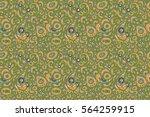 hand drawn ethnic texture ... | Shutterstock . vector #564259915