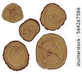 vector wood surface as... | Shutterstock .eps vector #564267586