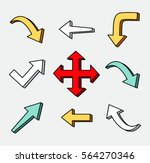 set of arrow hand drawn design... | Shutterstock .eps vector #564270346