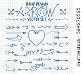 set of arrow hand drawn design... | Shutterstock .eps vector #564270535