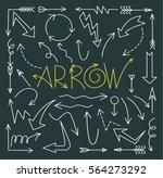set of arrow hand drawn design... | Shutterstock .eps vector #564273292