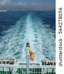 Small photo of Boat Stern at Mediterranean sea