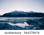 Beluga Point  Alaska  Mountain...