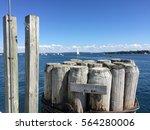 the dock at harbor springs. | Shutterstock . vector #564280006