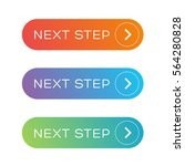 next step colorful button set | Shutterstock .eps vector #564280828