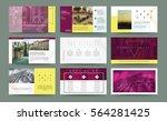 original presentation templates ... | Shutterstock .eps vector #564281425