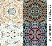 set of gorgeous seamless... | Shutterstock .eps vector #564281722