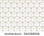 vector geometric cubes pattern  ... | Shutterstock .eps vector #564288046