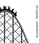editable vector silhouette of a ... | Shutterstock .eps vector #56429116