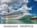 large luxury cruise ship disney ... | Shutterstock . vector #564299116