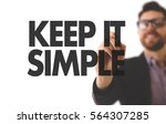 Stock photo keep it simple 564307285