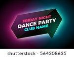 vector glowing banner on dark... | Shutterstock .eps vector #564308635