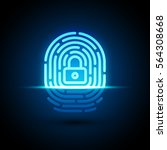 vector fingerprint loop icon... | Shutterstock .eps vector #564308668