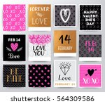 hand drawn valentine's day... | Shutterstock .eps vector #564309586